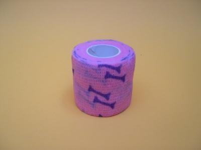 Ligadura  5cm x 4.5m rosa c/ ossos